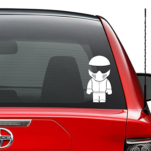 Baby Stig Racing Japanese JDM Vinyl Decal Sticker Car Truck Vehicle Bumper Window Wall Decor Helmet Motorcycle and More - Size (5 Inch / 13 cm Tall) / (Color Gloss White) (Best Of The Stig)