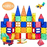 ORRENTE Magnetic Blocks, Magnetic Building Blocks Set for Boys/Girls, Magnetic Tiles Educational STEM Toys for Kids/Toddlers, 60 Piece