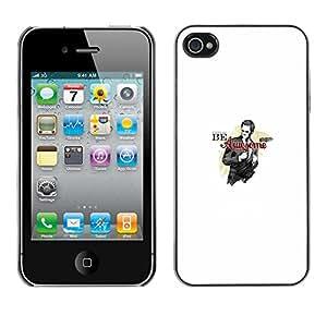 Ihec Tech / SER IMPRESIONANTE - DIVERTIDA - BARNEY BARNY / Funda Case back Cover guard / for iPhone 4 / 4S