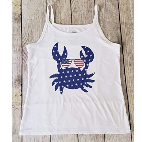Patriotic American Flag Crab Cami Tank Top Wonder Nation Brand Size XL/XG 14-16 Teen