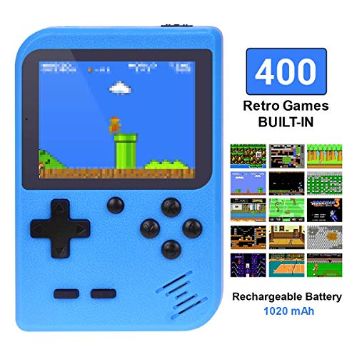 TAPDRA Handheld Game Console, Retro Game Console with 400 Classic Games 3.0 inch Screen Portable Game Console, Good Present for Kids, Xmas Gift