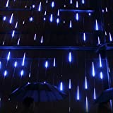 Your Supermart LED Meteor Shower Rain Lights Falling Rain Drop Christmas Light 2835 LED String Light W/US Set Waterproof Cascading lights for Holiday Party Wedding Christmas