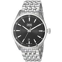 Oris Men's 73376424034MB Artix Analog Display Swiss Automatic Silver Watch