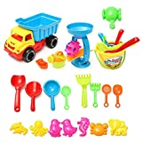 WALLER PAA Beach Sand Play Toys Set 21pcs/set Bucket Rakes Sand Wheel Watering Sand Toys