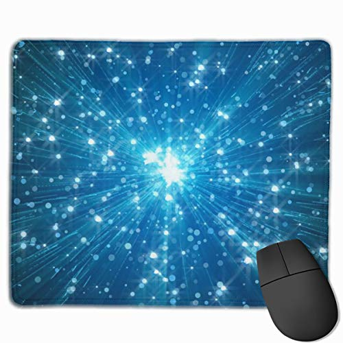 Mouse Pad Blue Twinkling Star Shines Rectangle Non-Slip 9.8in11.8 in Unique Designs Gaming Rubber Mousepad Stitched Edges Mouse Mat