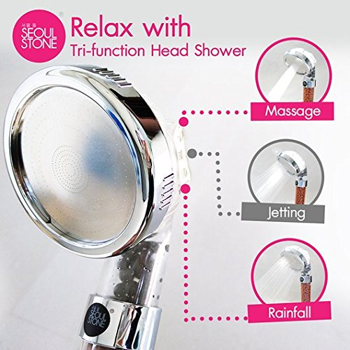 Seoul Stone Tri-Function Handheld Shower Head