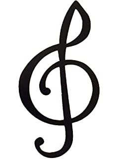 Amazon music word and music notes metal wall art decor home treble clef music note metal wall art decor voltagebd Gallery