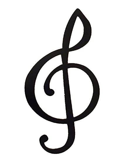 Amazon.com: Treble Clef Music Note Metal Wall Art Decor: Home & Kitchen