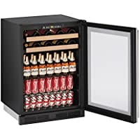 U-Line U1224BEVS00A Built-in Beverage Center, 24, Stainless Steel