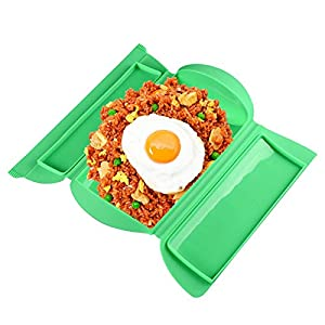 ANGELS --Portable Lunch Box Kitchen Microwave Oven Steamer Steamer Food Cooking Bowl Hot