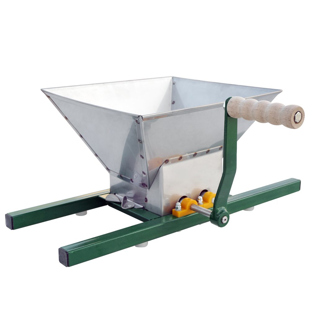 Stainless Steel Apple and Fruit Crusher | Grinder for Fruit and Wine Press Manual Shredder Making for Fruit Apple Juice Portable Pulper Grinder