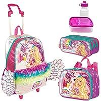 Kit Mochila Infantil Barbie Dreamtopia Lancheira Estojo Sestini