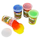 Two Tone Noise Putty Colorful Toys For Kids - 2.75 Inches Non-Toxic Slime (6 Pack) – Great Gift Ideas, Party Favors, Giveaways – By Kidsco