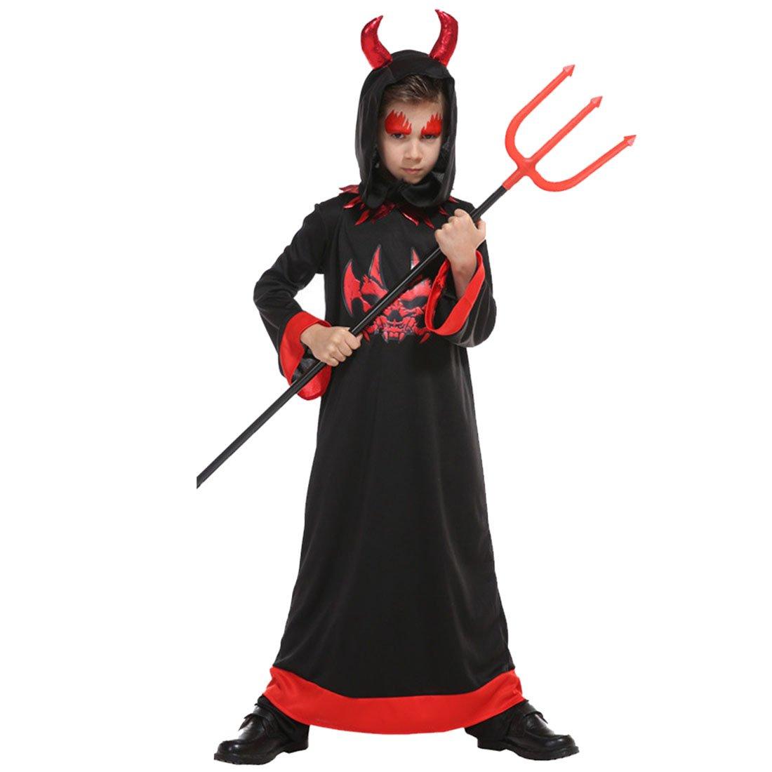 Jiyaru Halloween Kids Cloak Scary Vampire Costume Unisex Clothes Cosplay Party #6 S