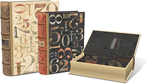Punch Studio Numerals Large Set of 3 Nesting Book Boxes (Nesting Book Boxes)