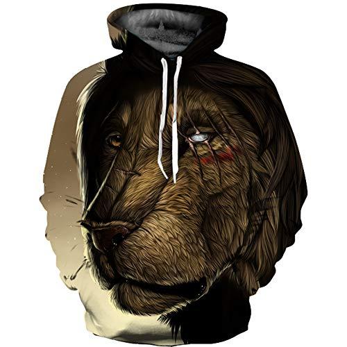 Ywfzzxs Unisex 3D Hoodies Beastmaster Hd 3D Printed Sweatshirts Long Sleeve Big Pockets Fleece Pullover XL
