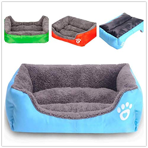 Glumes Clearance New Rectangle Pet Bed with Paw Printing,Resistant Bite Soft and Washable Pet Mat Dog House Small Medium Large Pet Animal Small Dog Bed Ideal