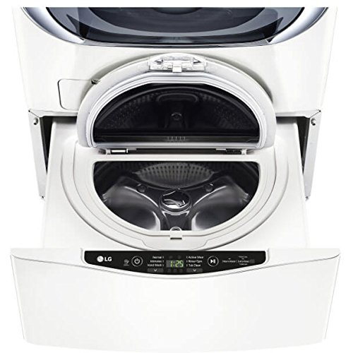 WD100CW 27 SideKick Pedestal Washer for Front Load Washer with 1.0 cu. ft. Right Size Capacity  Specialty Cycles  and Direct Drive Motor: Whiteu0022