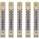 Lantelme 5 Stück Set Analog Innen, Aussen, Garten Thermometer Kunststoff beige