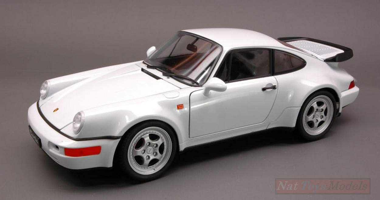 NEW Welly WE2736 Porsche 964 Turbo 1991 White 1:18 MODELLINO Die Cast Model