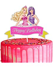LYNHEVA Glitter Happy Birthday Cake Topper, Cake Topper,Theme Birthday Party Supplies, Kids Girls Bday Party Favor