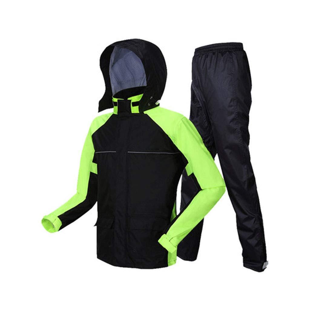 noir vert XXL Poncho de Pluie, Un Imperméable De Différentes Tailles, Un Pantalon De Pluie Convient à Une Veste De Pluie Légère Et Légère pour Hommes