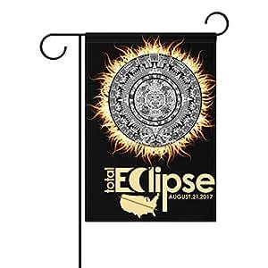 """Casa tela de poliéster total Solar Eclipse América 21de agosto 2017jardín banderas, resistente al moho Custom impermeable al aire libre bandera, 12""""X 18"""":"""