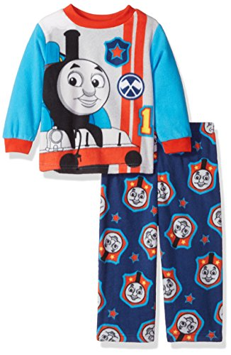 Nickelodeon Baby Toddler Boys' Thomas The Train 2-Piece Pajama Set, Cool Engine Blue, (Train Apparel)