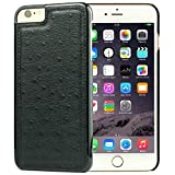 iPhone 6S Case, Dpob True Color Series Ostrich Grain Leather Phone Case for Apple iPhone 6 / 6S 4.7 Inch (Black)