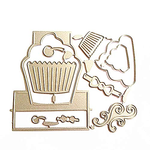 UanBO9wykh Cutting Die (●_●), Pop Up Cupcake Cutting Die Set Metal Stencil for DIY Scrapbooking Album Decor for Card Aking Paper Crafts Themed Invitations Album Decoration Photo Frame Silver by UanBO9wykh (Image #8)