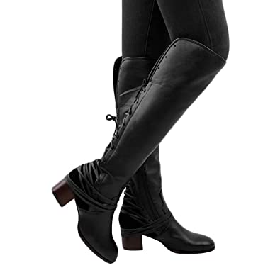 c340b6392c7 Image Unavailable. Image not available for. Color  Susanny Women s Wide  Calf Knee High Boots ...