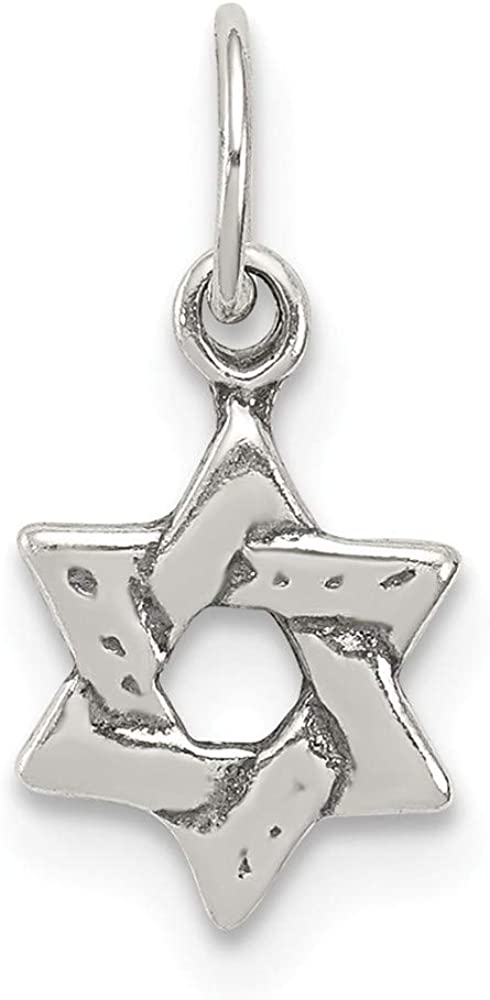 Sterling Silver Polished Religious Pendant Solid Pendants /& Charms Jewelry