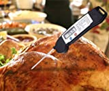 Instant Read Thermometer Super Fast with Digital LCD screen for Cooking Food Turkey Thermometer Barbecue Grilling Meat Thermometer with Collapsible probe for Candy Milk Sugar Water BBQ & Brewing Beer