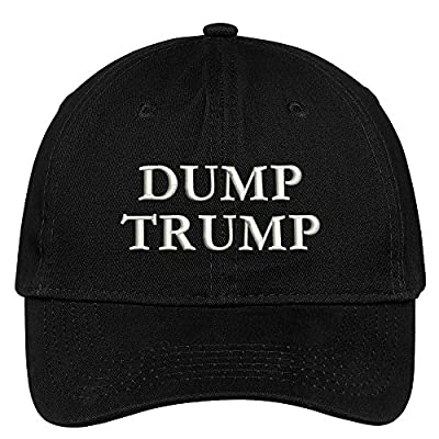Dump Trump Embroidered Brushed Cotton Dad Hat Cap