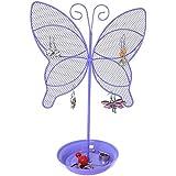 Cute Butterfly Jewelry Organizer – Purple Earring Jewelry Stand – Dresser Top Jewelry Organizer for Teens – Earring Holder