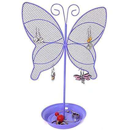 Amazoncom Cute Butterfly Jewelry Organizer Purple Earring
