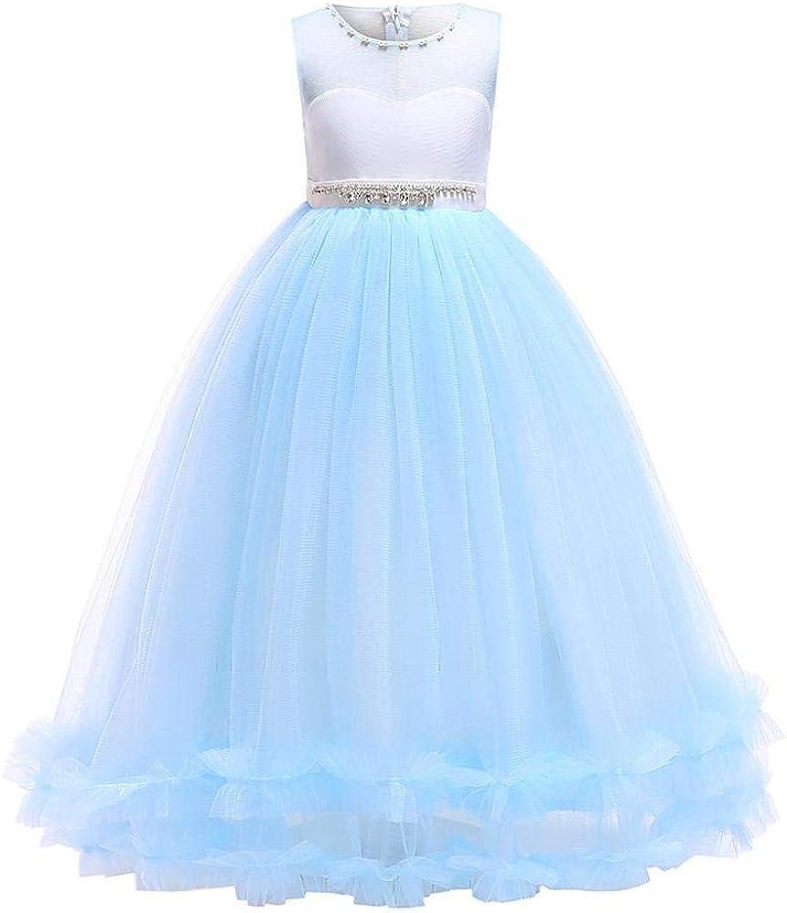 VJGOAL Vestido de niña Sin Mangas Vestido de Princesa Fiesta de cumpleaños Vestido de Desfile de Boda Vestidos de tutú de Malla Formal Vestidos Largos: Amazon.es: Ropa y accesorios