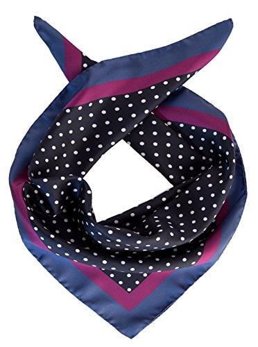 (Elizabetta Men's Italian Silk Neckerchief Scarf, Large Bandana, Polka Dot)