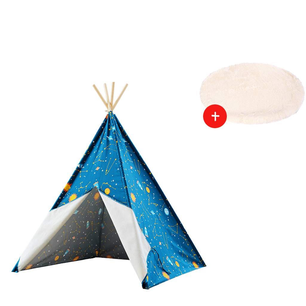 子供用テント 屋内ゲームテント ゲームハウス 男の子と女の子 星空シリーズ 子供部屋 おもちゃハウス  B B07KVG4PPL