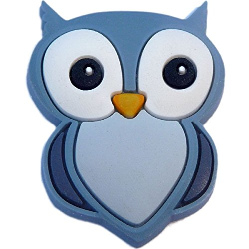 Owl Rubber Charm for Wristbands and Shoes