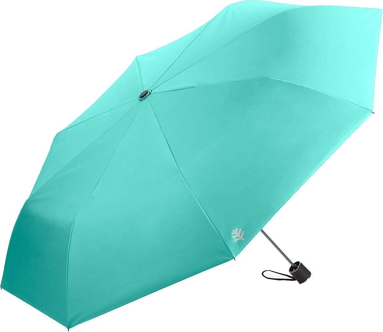 Coolibar UPF 50+ Bund Compact Umbrella - Sun Protective (One Size- Cooliblue)