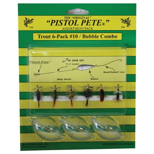 Pistol Pete Trout with Bubbles (6-Pack), Size-10