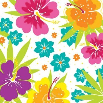 Floral Delight Lunch Napkins 100 Per Pack