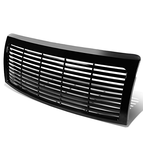 Ford F-150 12th Gen ABS Plastic Horizontal Fence Style Front Front Upper Grille (Glossy Black)