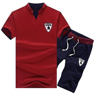 Chándal Camiseta Polo Y Pantalones Cortos Conjunto De Manga Corta ...