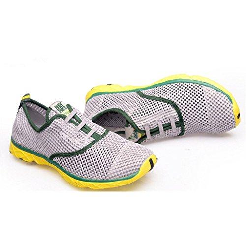 Oriskey Zapatos Aguamarina de Agua Zapatillas deportivas de Aqua de Surf de Playa de deporte para hombre Gris