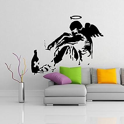 Amazon.com: ( 39\'\' x 32\'\') Banksy Vinyl Wall Decal Giant Fallen ...