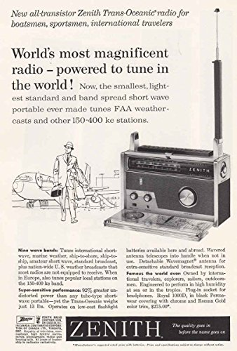 Port Zenith (1960 Zenith Radio: Airport, Most Magnificient, Zenith Print Ad)