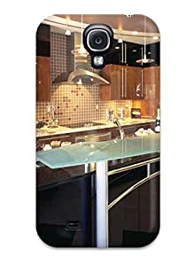 Hot Contemporary Italian Kitchen With Raised Glass Bar Amp Small Pendant Lights First Grade Tpu Phone Case For Galaxy S4 Case Cover