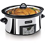 Crockpot  SCCPVC600P-33A Countdown Programmable Slow Cooker, Polished Stainless